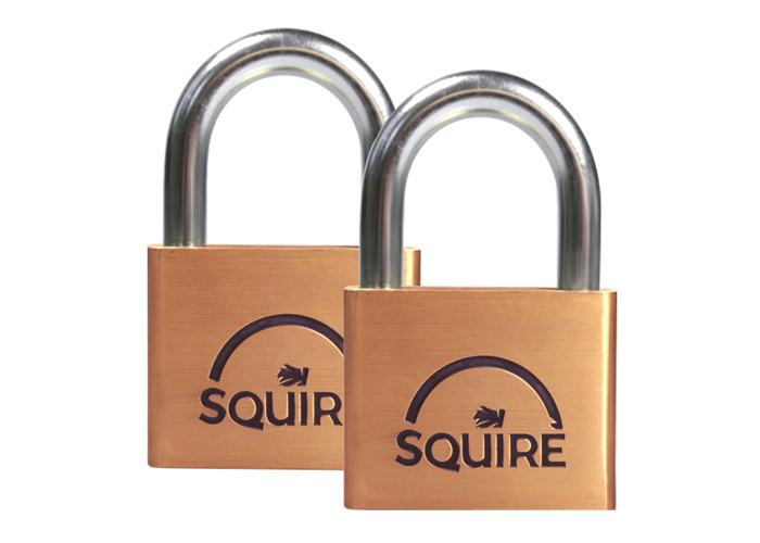 SQUIRE Lion Brass Open Shackle Padlock KA - 50mm Pack of 2 LN5T - 1