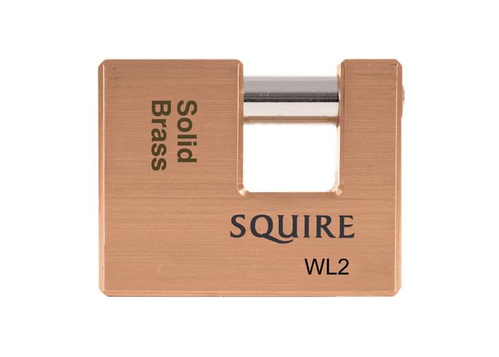 SQUIRE WL Series Brass Sliding Shackle Padlock - 70mm KD  - 1