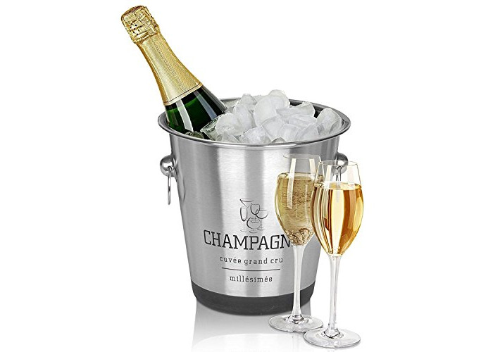 Stainless Steel Silver Champagne Wine Bucket Punch Drink Ice Cooler Party French Style - 1