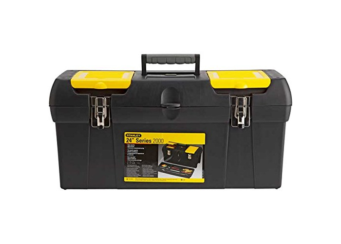 Stanley 24 Inch Tool Box with Tote Tray. - 1