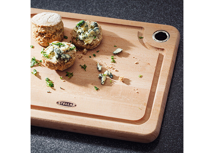 Stellar Beech Woodware 27 x 22 x 2cm Cutting Board - 2