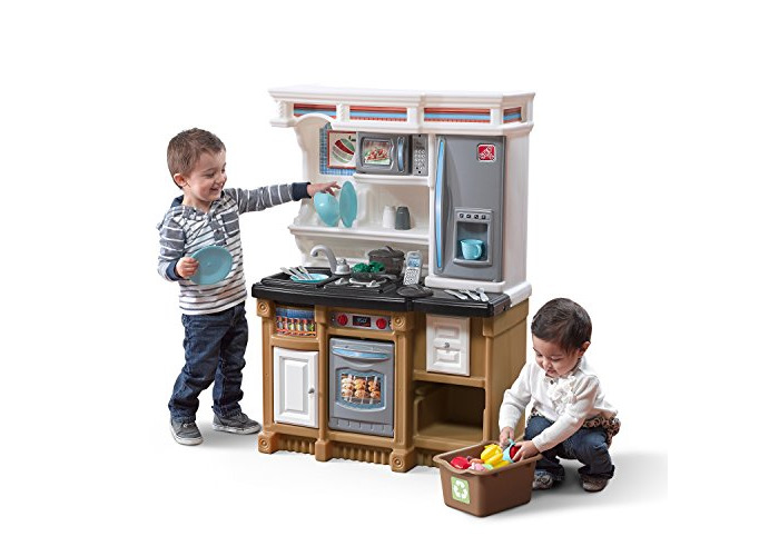 Step 2 856900 Play Kitchen, Brown & Black - 1