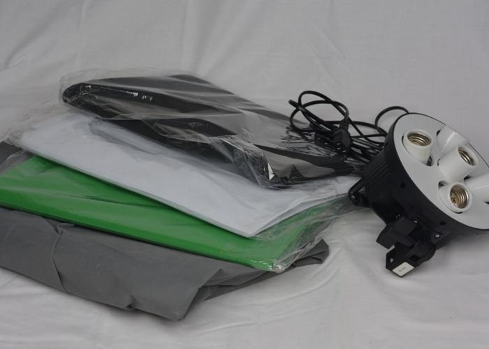 Studio Continuous Lighting Kit 5 Socket Softbox Background - 2