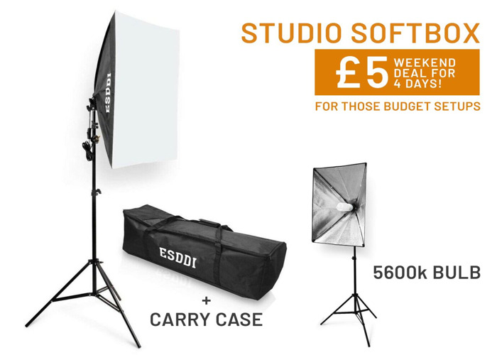 Studio Softbox Lamp & Diffuser | Light Stand & Carry Case - 1