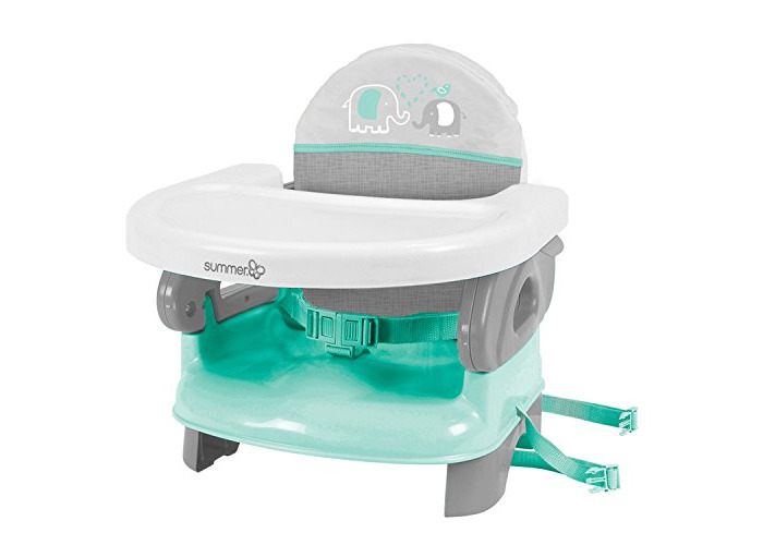 Summer Infant Deluxe Comfort Booster, Teal Grey - 1