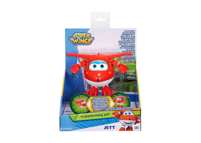 Super Wings - Transforming Vehicle | Series 1 | Jett | Plane | Bot | 5 Inch Figure - 2