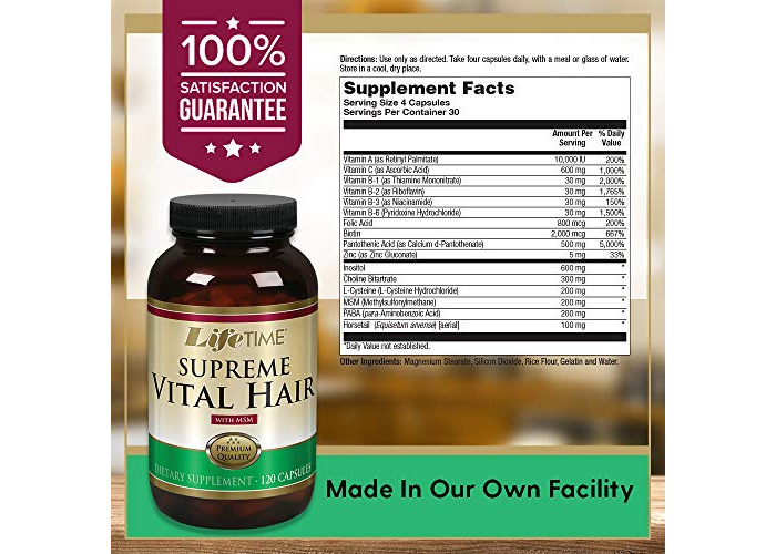 Supreme Vital Hair with MSM, 120 Capsules - 2