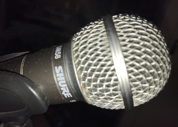 Sure SM58 Mic w/ pop guard - 2
