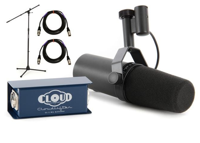 Sure SM7B Recording Package inc Cloudlifter, Cables & Stand - 1