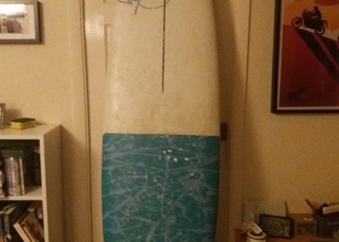 Surfboard: 7'2 HiFly Mini Malibu Board plus bag leash & fins - 1