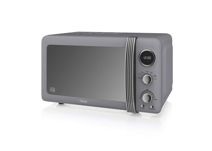 Swan Retro Digital Microwave (4 Colours)-Grey - 1