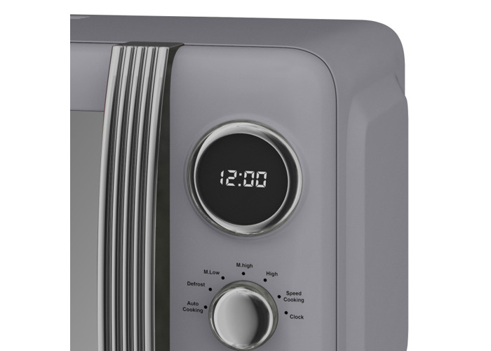 Swan Retro Digital Microwave (4 Colours)-Grey - 2