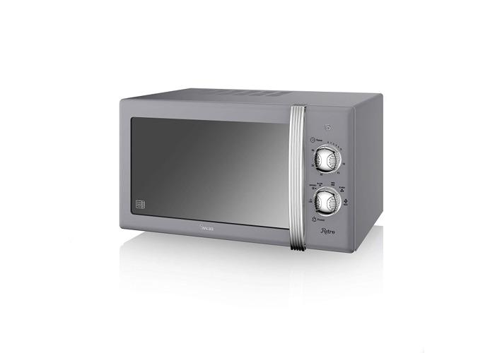 Swan Retro Manual Microwave - Grey - 1