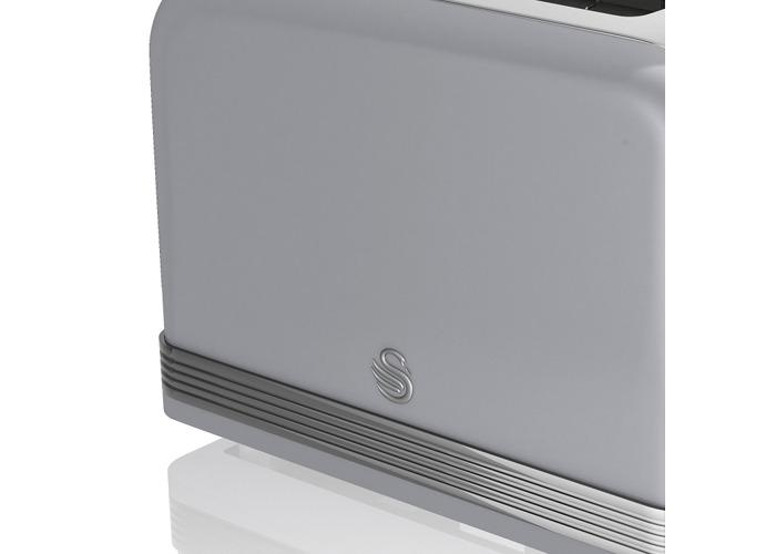 Swan ST19010GRN 2-Slice Retro Toaster, 815W - Grey - 1