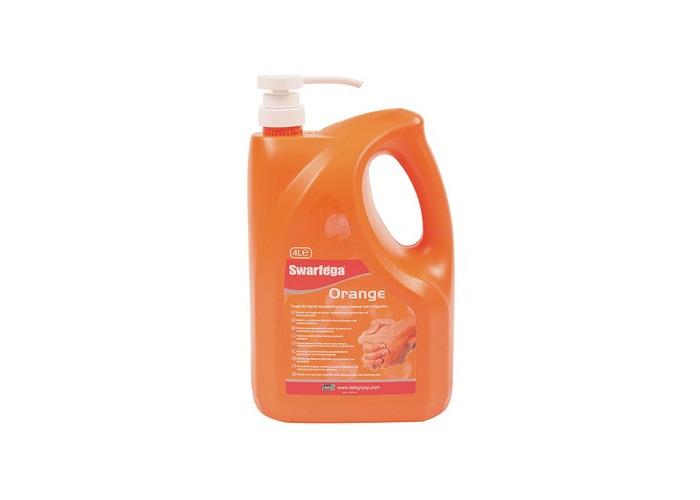 Swarfega SOR4LMP Orange Hand Cleaner Pump Top Bottle 4 Litre - 1