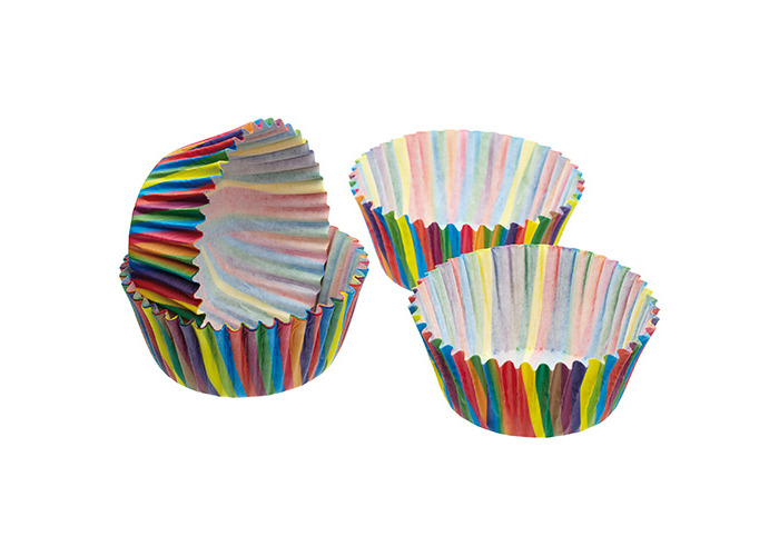 Sweetly Does It Pack of Sixty Jazzy Stripe Cake Cases - 1
