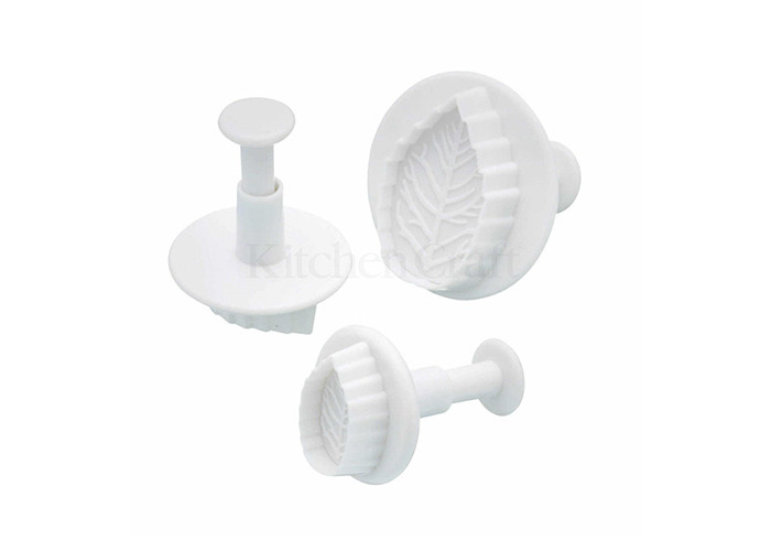 Sweetly Does It Set of Three Leaf Fondant Plunger Cutters - 1