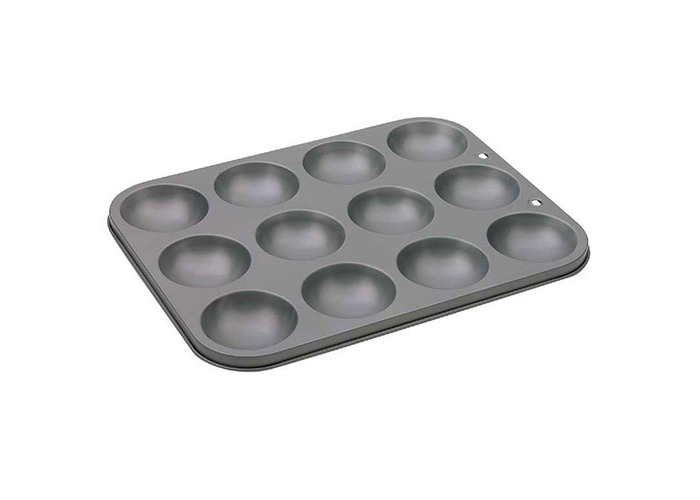 Swift Faringdon Collection Bakers Pride Non-Stick 12 Cup Mince Pie/Mini Muffin Pan Carbon Steel 29 cm x 22 cm x 2 cm, Cups 6 cm x 3.25 cm - 1