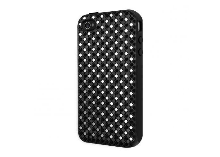 SwitchEasy Glitz Hybrid Case for iPhone 4 - Black - 1