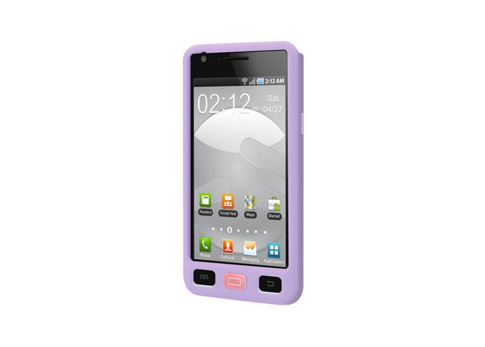 Switcheasy SW-COLG2-LC Colors Pastel Silicone Case for Samsung Galaxy S II International - 1 Pack - Case - Retail Packaging - Lilac - 2