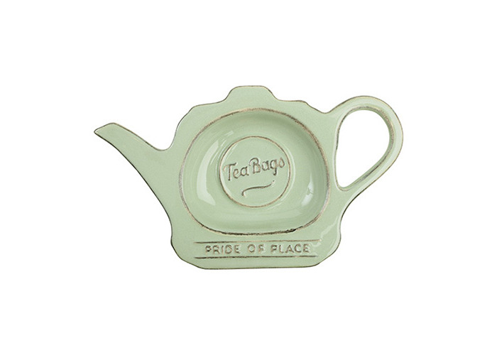 T & G Pride Of Place Tea Bag Coaster Tidy Holder Old Green - 1