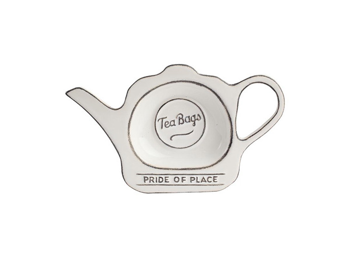 T & G Pride Of Place Tea Bag Coaster Tidy Holder White - 1
