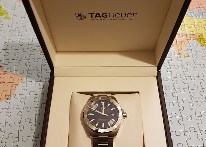 TAG Heuer Aquaracer Watch for Men- Black - 1