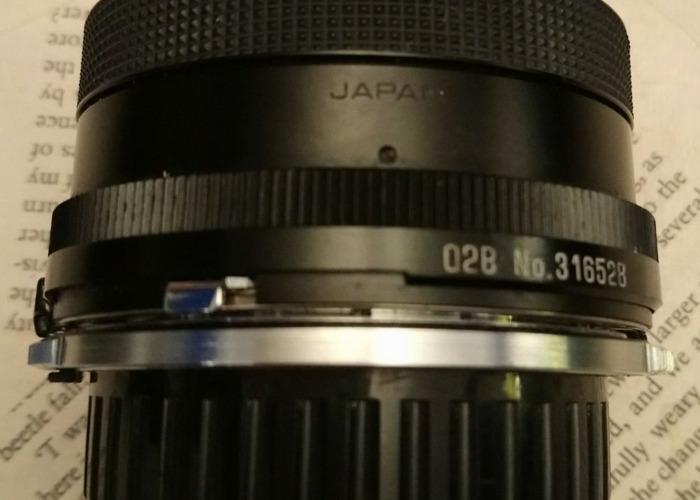 Tamron 2, 1:2.5mm, 28mm lens - 2