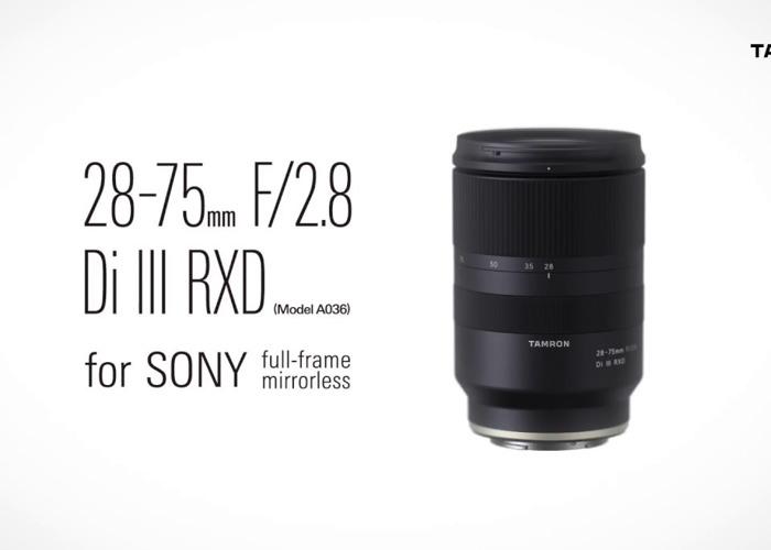 Tamron 28-75mm f2.8 Di III RXD Sony E Mount - 1