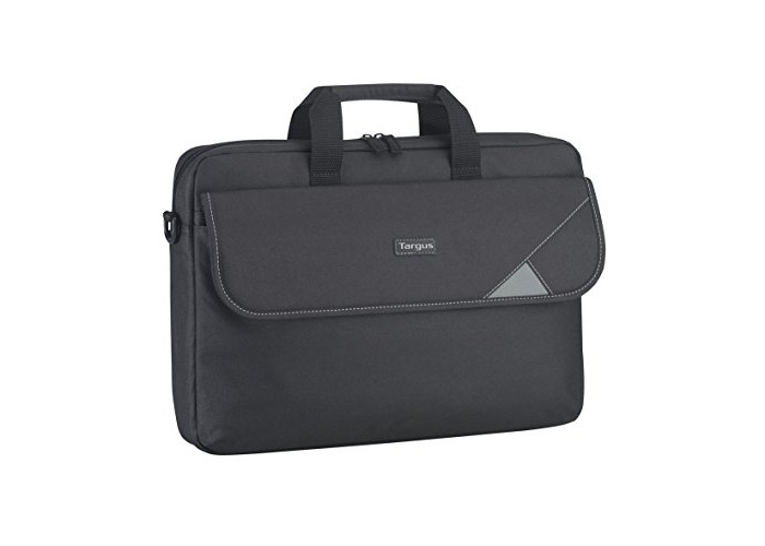 Targus Intellect Topload Travel and Commuter Messenger Bag with Shoulder Strap for 15.6-Inch Laptop, Black/Grey (TBT239EU) - 1