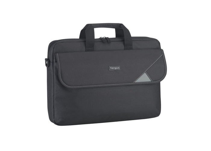 Targus Intellect Topload Travel and Commuter Messenger Bag with Shoulder Strap for 15.6-Inch Laptop, Black/Grey (TBT239EU) - 2