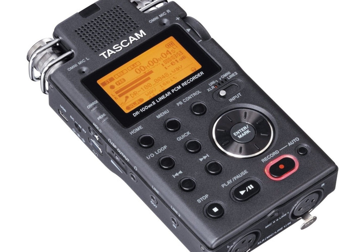 TASCAM DR-100mkII 2-Channel Portable Digital Recorder  - 1