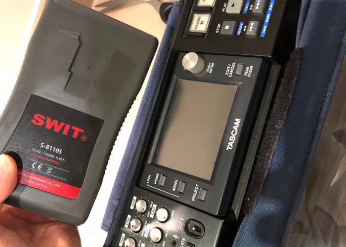 audio TASCAM HS-PT82 recorder (sound, INTERVIEW, multichannel, 8 channels, mixer, devises) - 1