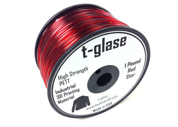 Taulman t-glase PETT Red 2.85mm filament - 1