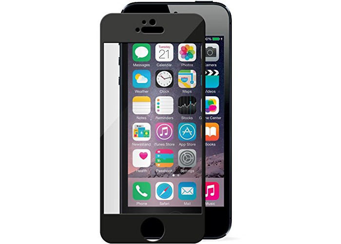 Tech-Guard Gorilla Glass Screen Protector for iPhone 5/5S - Clear/Black - 1