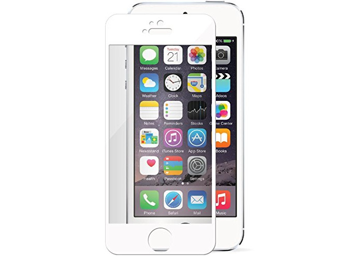 Tech-Guard Gorilla Glass Screen Protector for iPhone 5/5S - Clear/White - 1