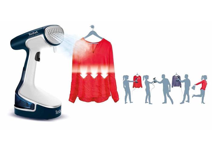 Tefal DR8085 Access Steam Garment Steamer - White and Blue - 2