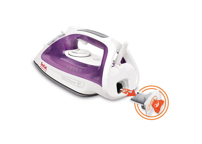 Tefal FV2661 Ultraglide Anti-Scale Steam Iron, 2400 Watt, Purple/White - 2