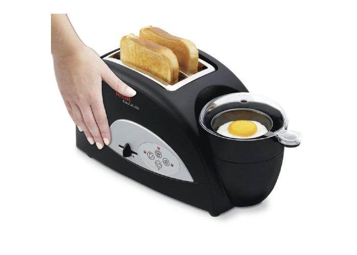 Tefal TT550015 2-Slice Toaster & Egg Maker - Black - 2