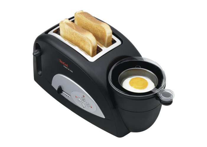 Tefal TT550015 2-Slice Toaster & Egg Maker - Black - 1