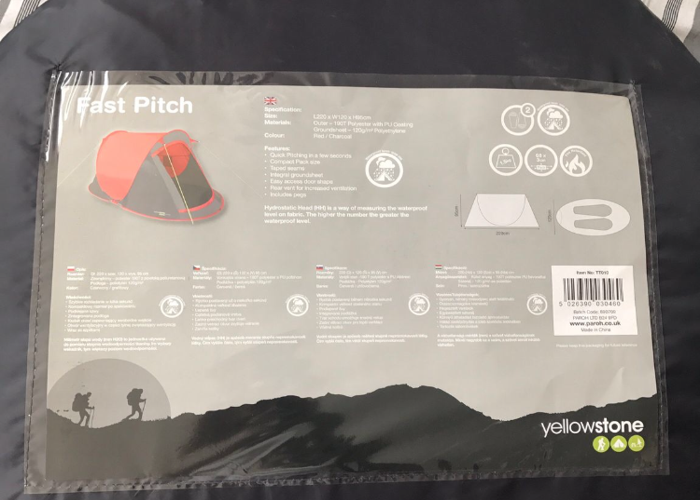 Tent- Two Person Pop Up Tent  - 2