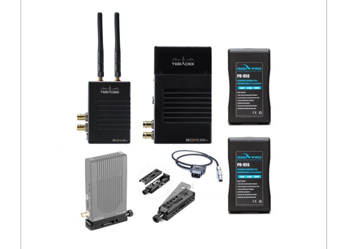 Teradek bolt 500 (SDI & HDMI ports) + D-Tap cables + mount bracket + accessories - 1