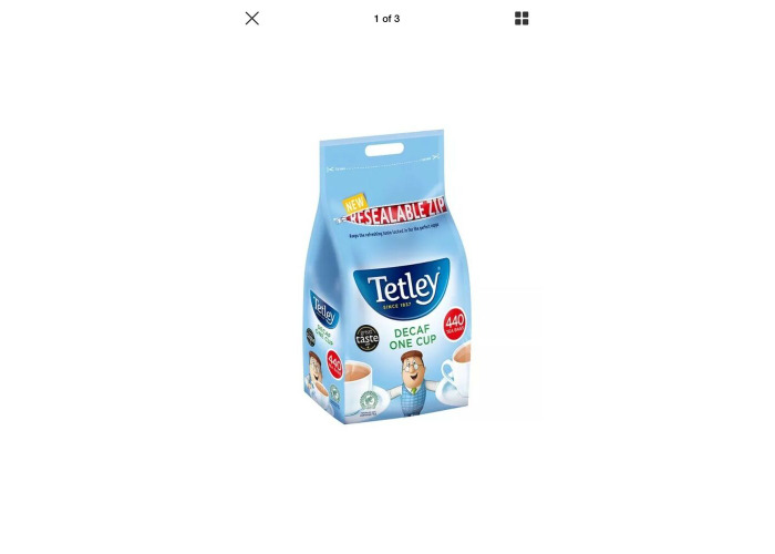 TETLEY DECAF ONE CUP 440 TEA BAGS 1KG CATERING - 2