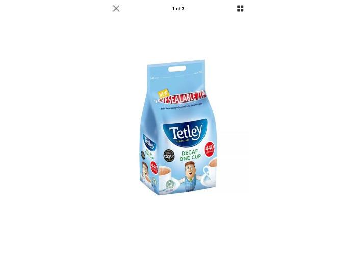 TETLEY DECAF ONE CUP 440 TEA BAGS 1KG CATERING - 1