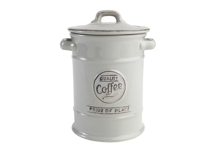 T&G Pride of Place Coffee Storage Jar Canister In Cool Grey - 1