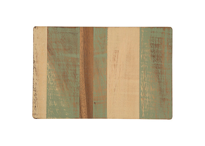 T&G Pride of Place Large Painted Trivet Green, Cream & Acacia - 1