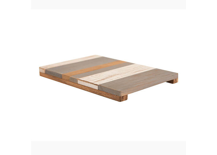 T&G Pride of Place Large Painted Trivet Grey, White & Acacia - 2