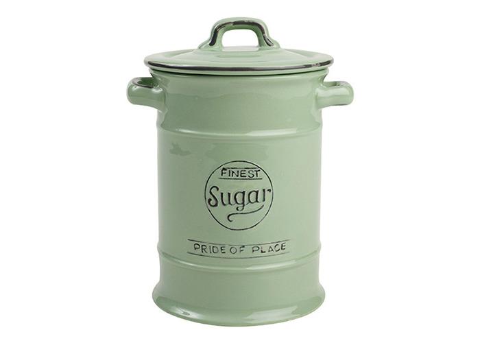 T&G Pride of Place Old Green Sugar Storage Jar - 1