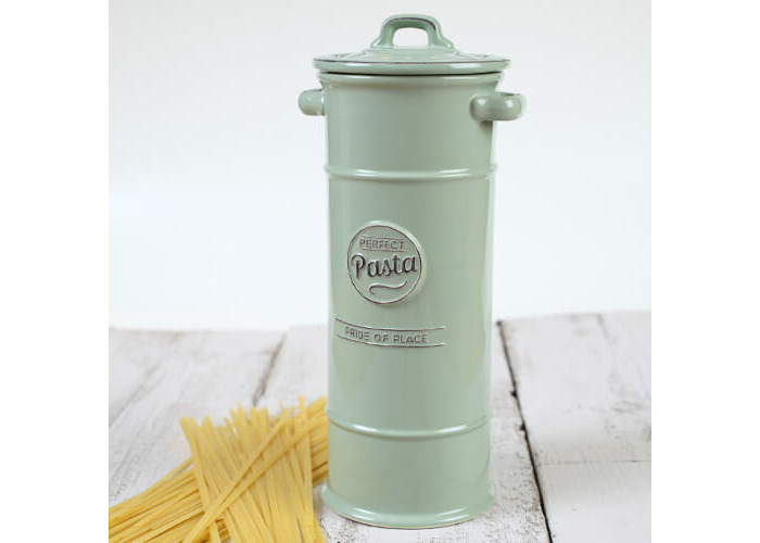 TG Pride of Place Pasta Spaghetti Storage Jar Ceramic Green 18017 - 2