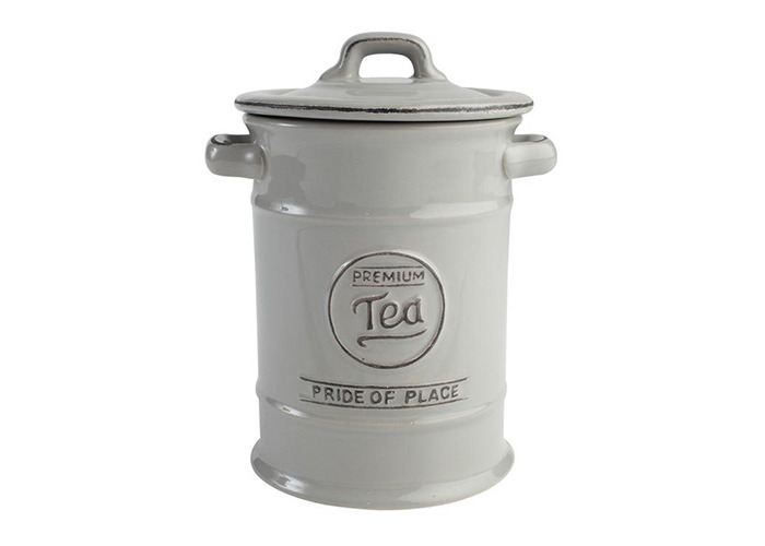 T&G Pride of Place Tea Storage Jar Canister In Cool Grey - 1